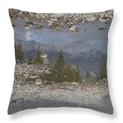 Reflections On A Mountain Stream Throw Pillow