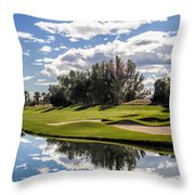 Reflections On A Still Morning Throw Pillow