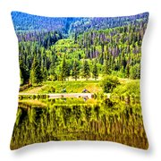 Reflections On A Summer Day - Vail - Colorado Throw Pillow