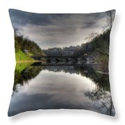 Reflections On Adda River Throw Pillow