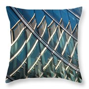 Reflections On Building Windows Throw Pillow