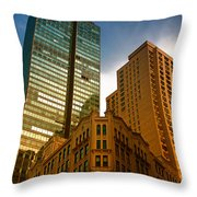 Reflections On Buildings Nyc Throw Pillow