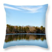 Reflections On Long Pond Throw Pillow