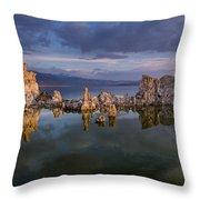 Reflections On Mono Lake 1 Throw Pillow