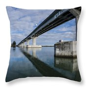 Reflections On Samoa Bridge Throw Pillow