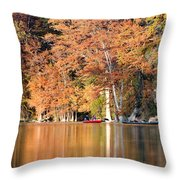 Reflections On The Frio River IIi Throw Pillow