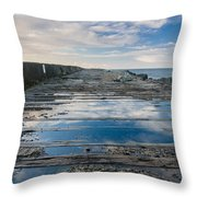 Reflections On The South Spit Throw Pillow