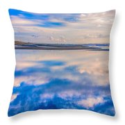 Reflections On The Beach Throw Pillow
