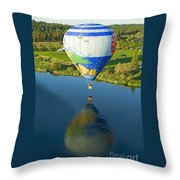 Reflections Over The Dechutes Throw Pillow