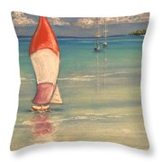Reflections Throw Pillow by The Beach  Dreamer