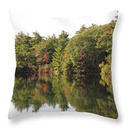 Reflections Two At Pearce Lake Breakheart Throw Pillow