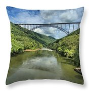 Reflections Under The Bridge Throw Pillow