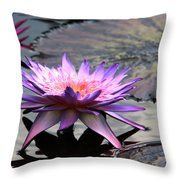 Dark Water Reflections Throw Pillow