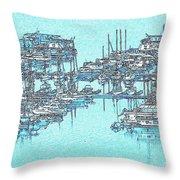 Reflective Blue Throw Pillow