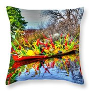 Reflective Boat Throw Pillow