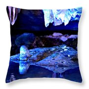 Reflective Cavern Throw Pillow