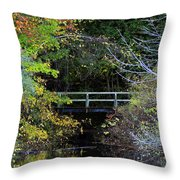Reflective Fall Throw Pillow
