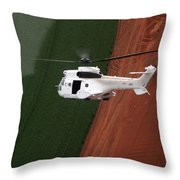Reflective Helicopter Throw Pillow