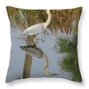 Reflective On Blue Throw Pillow