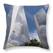 Reflective Skyscrapers Throw Pillow