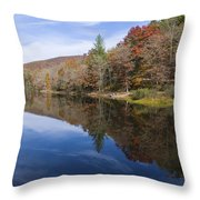 Reflection On Lake Winfield Scott 2 Throw Pillow