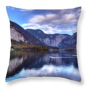 Reflectons Of Hallstatter See I Throw Pillow