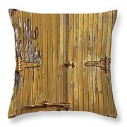 Refrigerated Boxcar Door Throw Pillow