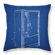 Refrigerator Patent From 1942 - Blueprint Throw Pillow