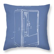Refrigerator Patent From 1942 - Light Blue Throw Pillow