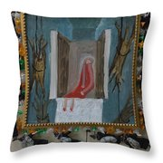 Refrigerator Rock And The King - Framed Throw Pillow