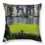 Refuge In The Mountains Throw Pillow