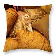 Regal Feline Throw Pillow