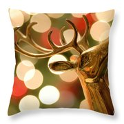 Regal Reindeer Throw Pillow