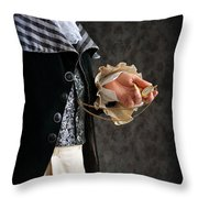 Regency Man With A Pocket Watch Throw Pillow