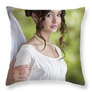 Regency Period Couple Throw Pillow