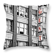 Regent Hotel Throw Pillow