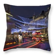 Regent Street Lights Throw Pillow