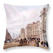 Regent Street, Looking Towards The Duke Throw Pillow