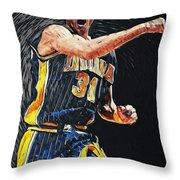 Reggie Miller Throw Pillow