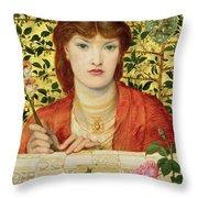 Regina Cordium Alice Wilding, 1866 Throw Pillow
