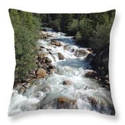 Reigning Over Rocks Throw Pillow