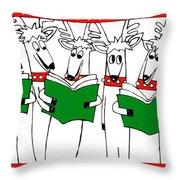 Reindeer Choir Throw Pillow