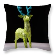 Reindeer Christmas Card Throw Pillow