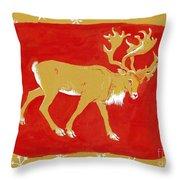 Reindeer Throw Pillow by George Adamson