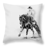 Reining Throw Pillow