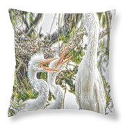 Rejecting Fledglings Throw Pillow
