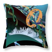 Rejoice In The River Throw Pillow