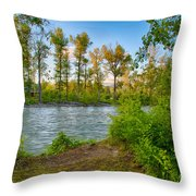 Relax By The Methow Rivers Edge Throw Pillow