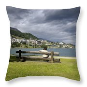 Relax In St Moritz Throw Pillow