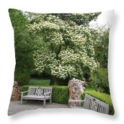 Relax In The Park Throw Pillow